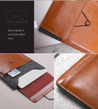 Genuine Leather + Wool Envelope Style Sleeve Bags Cases for The new MacBook 12 inch - Postman series