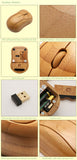 Natural bamboo wireless nano USB mouse carved with words of wisdom in Chinese calligraphy