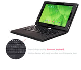 Fine Leather  Smart Cover Case with Removable/Detachable Bluetooth Keyboard for Sony Xperia Z2