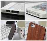 Wooden iPhone 5, 5S Case Skin - Red Sandalwood + PC Frame - Wear resistance, No cracking.