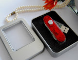 64GB SIM + Hyundai USB 3.0 USB Flash Memory Stick, With Stainless Swiss Army Knife Style Design