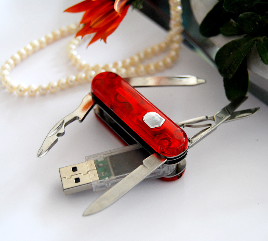 64GB USB 2.0 USB Samsung Flash Memory Stick, With Stainless Swiss Army Knife Style Design