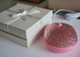 Optical Computer Mouse, Soap Shape with Crystal Rhinestone Set