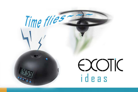 Novelty Desk Alarm Clock with Flying Rotor, Snooze Feature