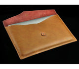 Hand Crafted Genuine Leather Envelope Sleeve Bags for MacBook Air & Pro, Pro Retina and iPads
