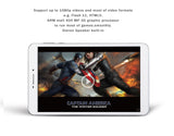 "AMPE 8"" Quad Core Tablet Phone, Qualcomm; 64 bit, Andreno 306, TDD 4G, WCDMA 3G, Android 5.0, Dual Sim Card Slots, Unlocked GSM"