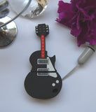8GB USB Flash Memory Stick, Guitar Shape, Silicone Rubber
