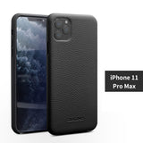Classic Genuine Top Selected Cowhide Leather Protective Cases/Skins for iPhone 11, 11 Pro, Pro Max