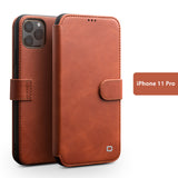 Genuine Selected Cowhide Leather Protective Cases Exclusive Design for iPhone 11, Pro, Pro Max + Free Gift -Tempered Glass Film