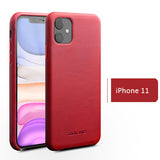 Genuine Selected Calfskin Leather Protective Cases Exclusive Design for iPhone 11, 11 Pro and Pro Max, Free Gift -Tempered Glass Film