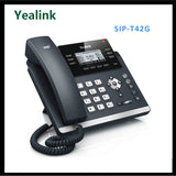Yealink SIP-T42G HD Voice/Speaker 3-Line VoIP IP Phone PoE Ready