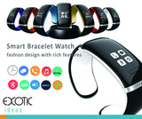 Bluetooth Smart Bracelet Watch touch OLED,Pedometer,SMS,Mobile Sync,Music Player,Calls Answer