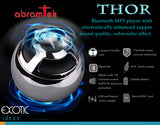 Abramtek Bluetooth Enabled MP3 Player with Surround Sound and Subwoofer Effect Speaker.  - THOR series - works as external speakers for smart phones, iPad, notebooks