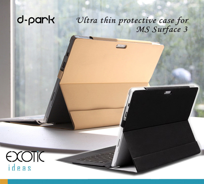 d-Park Microsoft Surface 3, with Velcro design for adjusting the cover and secure the tablet.