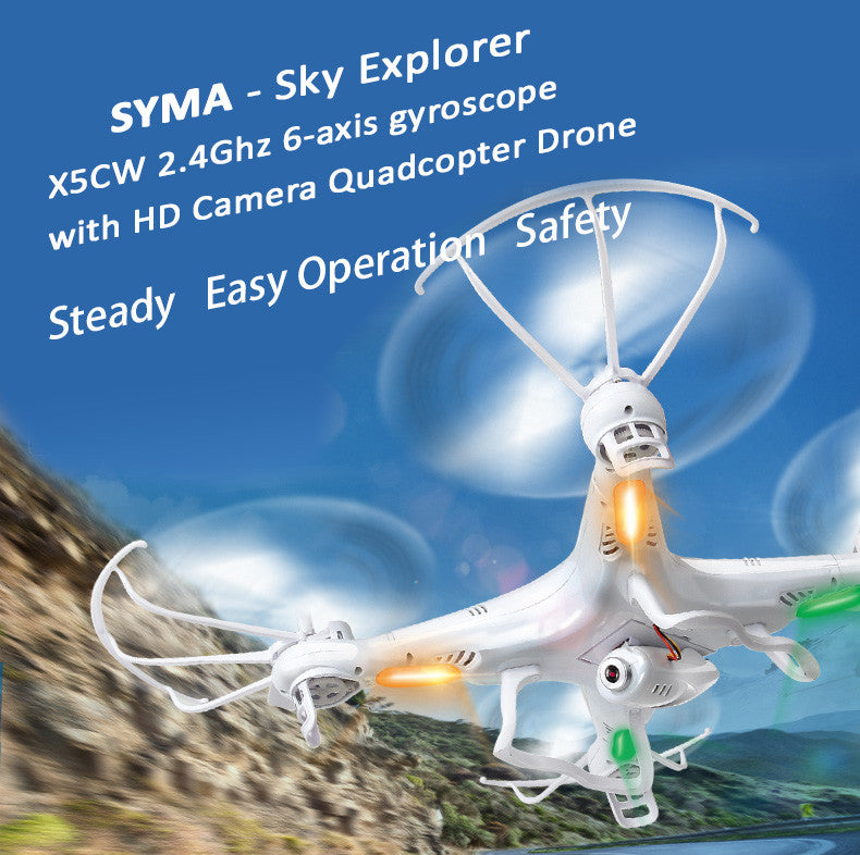 2.4Ghz 6-axis gyroscope RC Quadcopter Drone with 2M Pixel HD Camera. With Kingston SDHC Card