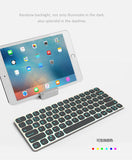 7 Color Illuminated Wired+Wireless Bluetooth Backlit Keyboard, Aluminum Alloy Cases, Universal Use