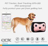 PET Tracker, Dual Tracking GPS+LBS, iP65 waterproof, e-Fence, Remote call and voice monitor.