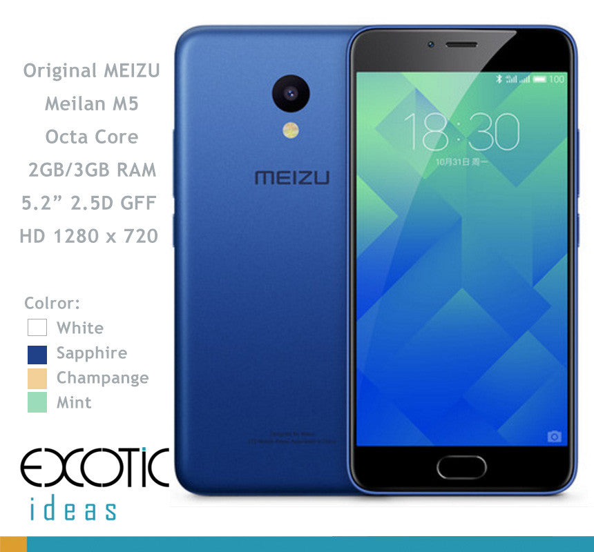 "Meizu M5S GSM/WCDMA 2G,3G,4G compatible Smart Phone MT6750 Octa Core 3GB RAM, 16GB ROM, 5.2""Inch 1280x720 2.5D GFF HD Screen Touch ID"