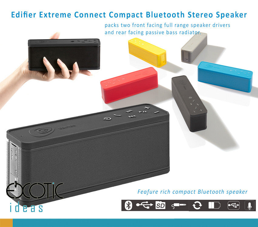 Edifier Extreme Connect I - Bluetooth Speake with two front speakers , Call Answer, AUX, Micro SD