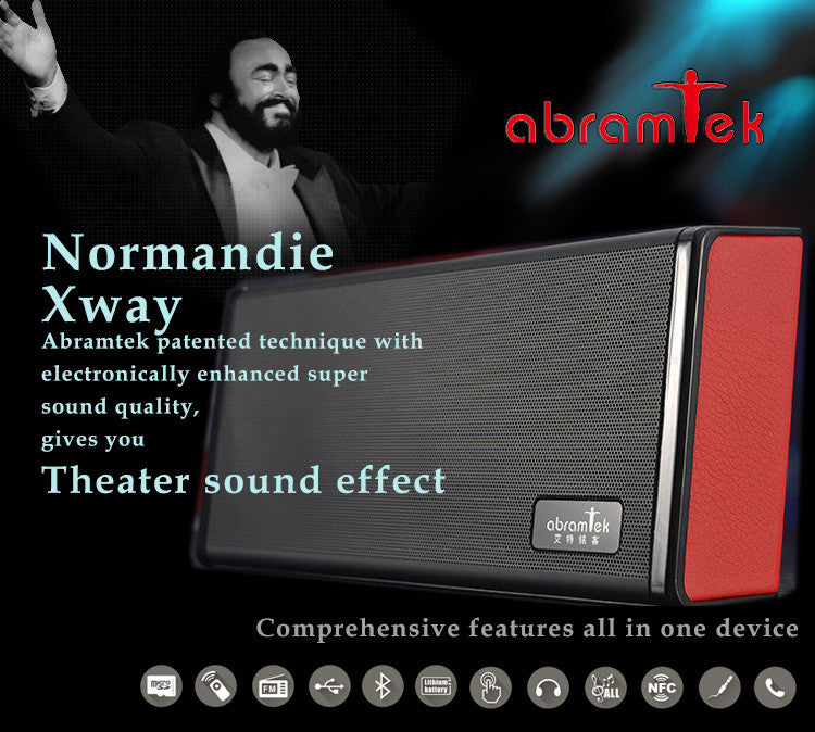 Abramtek Normandie Bluetooth MP3 Player Speaker Surround Subwoofer Effect, Like being in theater.