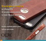 Genuine Leather Protective Case/Skin for iPhone 6 SE-32 processing procedure create a masterpiece.