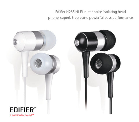 Edifier H285 Hi-Fi In-Ear Noise-Isolating Headphone, superb treble and powerful bass performance
