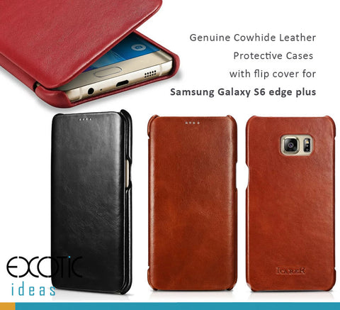 icarer Genuine Leather Protective Cases with Flip Cover for Samsung Galaxy S6 / S6 edge