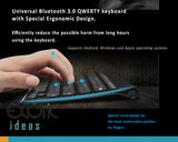 Bluetooth QWERTY Keyboard with Ergonomic. Supports Android, Windows and iOS systems