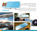 "4.3"" 1080P HD Car Camera DVR Tachograph Camera Recorder. Blue Rear View Mirror +  Air Purifier"