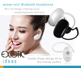woowi Bluetooth 3.0 Wireless Headset, Headphone. Mini size design for listening music  answering phones with ease. Candy shape for trendy outfits.