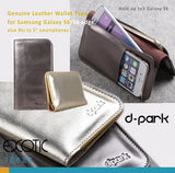 d-park Genuine Leather Wallet Type Protective Cases for Samsung Galaxy S6/S6 edge/S6 edge plus - Crystal Seahorse Series- With Gold Shiny Technicolor Process