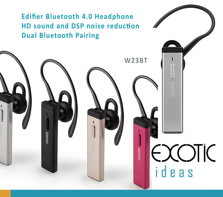 Edifier Bluetooth 4.0 Headphone HD sound and DSP noise reduction Dual Bluetooth Pairing, Call Answer/Reject - W23BT
