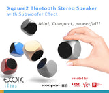 Xoopar Xquare2 Bluetooth Stereo Speaker with Subwoofer Effect, Mini Size Design