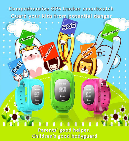 BOSO - Children Smartwatch - Comprehensive features to guard your kids - GSM, GPS/LBS tracking, SOS, e-Fence, 3 month path tracks, Anti-lost...etc
