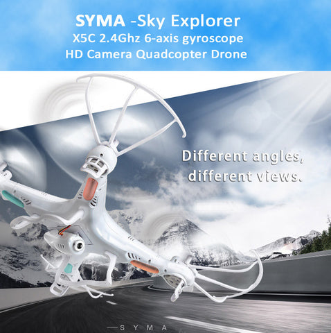 Syma X5C 2.4Ghz 6-axis gyroscope RC Quadcopter Drone+2M Pixel HD Camera+Kingston Micro SDHC