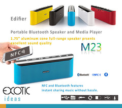 Edifier M23 Bluetooth NFC MP3 Player Two speakers, RMS optimized power and well-tuned bass radiator