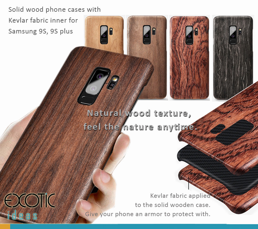 timeless design 63b8c b70fc Samsung Galaxy S9/S9 Plus Solid wood phone cases / shells with Kevlar  fabric applied in. Grive your phone an armor protection.