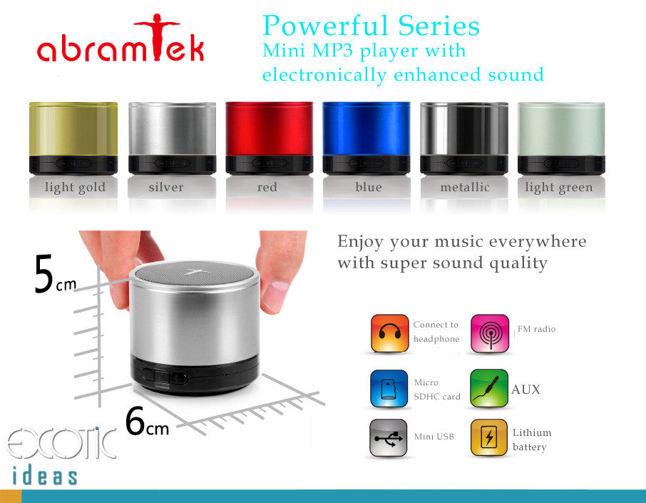 Abramtek Powerful II MP3 Player Surround Sound+Subwoofer Effect Speaker. Works as external speaker