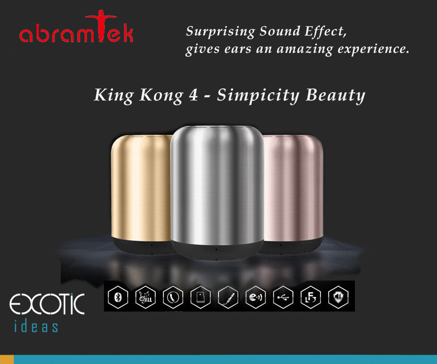 Abramtek King Kong 4 Bluetooth MP3 Speaker. Surround, Sub-woofer effect. Present simplicity beauty.