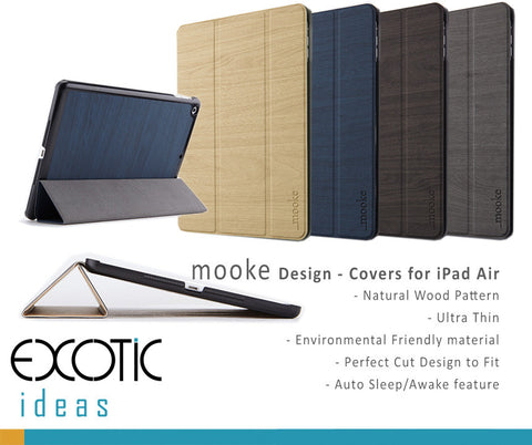 mooke design - iPad Air Covers / Cases / Sleeve Bags - Auto Sleep / Awake Feature