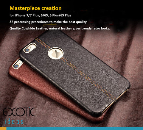 iPhone 7/7 Plus, 6/6S,6/6S Plus Genuine Leather Cases/Skins-32 processing procedure to create a Masterpiece