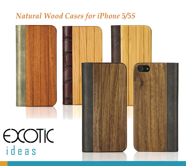 Wood+PU Leather Cover For IPhone 5/5S-Superior Hand