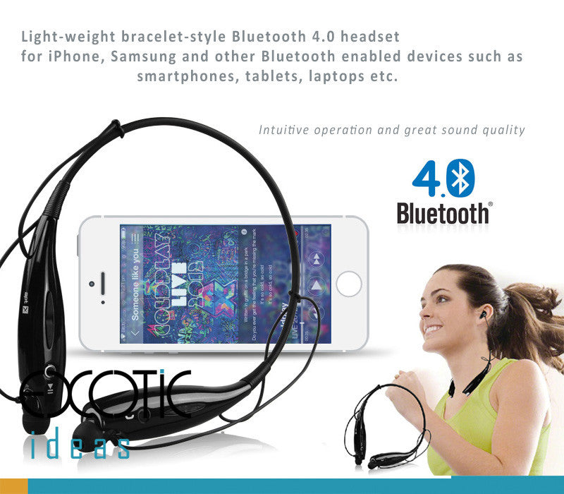 BOW Bluetooth 4.0 Sports Headset, Intelligent noise reduction (NR) Headphone, Answer Incoming Calls with Vibration Feature