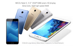 "Meizu M5 Note 2G GSM / 3G HSPA / 4G LTE compatible Smart Phone Octa Core 4GB RAM, 32GB ROM, 5.5""Inch 19200x1080 HD Display Touch ID"