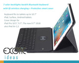 "for iPad Pro 10.5"", Pro 9.7"", The new 9.7"" - 7 color backlights backlit Bluetooth keyboard with wireless charging function + Protective smart cover,"