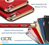 iPhone 7 / 7 Plus Hard Shell Cases/Skins with Gold Plated Parts to Ensure the Quality - Scrub Surface Processed