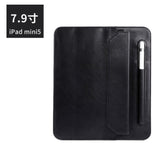 "Leather Envelope Sleeve for iPad Mini 5, 7.9"" 2019 - with Stylus Pen Holder and Stand Feature"