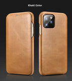 Retro Classic Genuine Top Selected Cowhide Leather Protective Cases/Skins for iPhone 11, 11 Pro, Pro Max