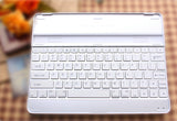 Aluminum Cover Case + Bluetooth Wireless KeyBoard Dock Case for iPad 2, iPad 3, iPad 4 - White and Black