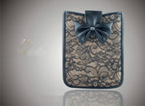 Fashionable Elegant Lace Leather Sleeve Bag Case Cover Skin For iPad 2 / Tablets